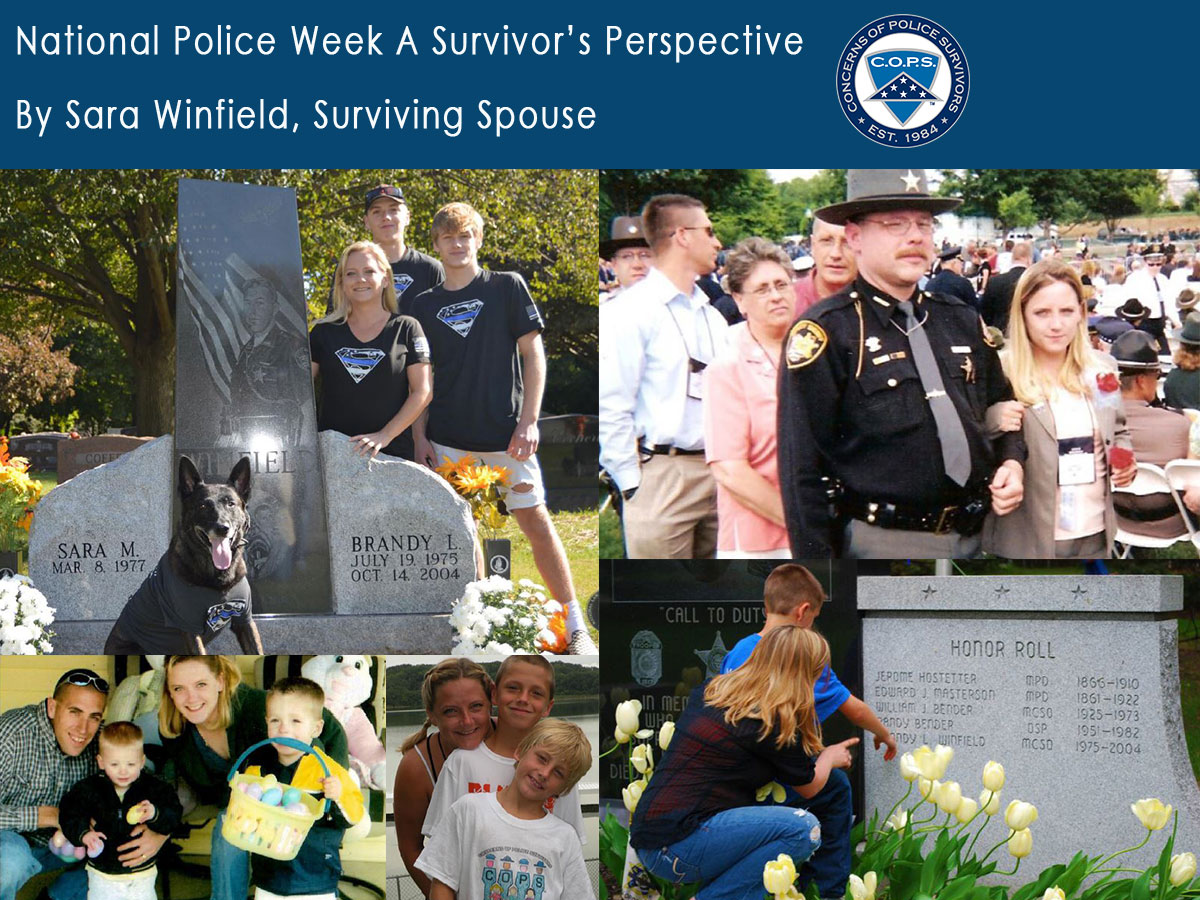 "National Police Week A Survivor's Perspective"" written by COPS Surviving Spouse, Sara Winfield"