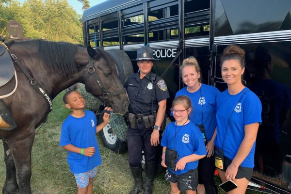 Kids with Mounted Patrol