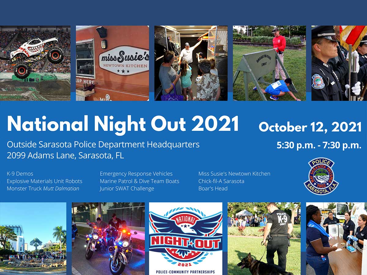 Sarasota Police Department to Host National Night Out on October 12!